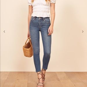 High & skinny crop jeans